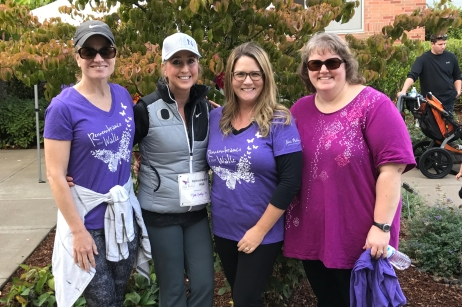 Raina, Nora's mother, with friends at the 3rd Annual Remembrance Walk. (2017)