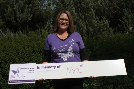 Raina, Nora's mom, is proud to honor her daughter's memory.